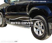 Защита штатного порога для для Toyota Prado 120