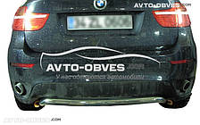 Защита заднего бампера для BMW X6, скоба (Tamsan)