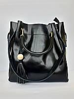 """Женская кожаная сумка """"Elegance"""" черная"""