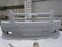 Ford Transit Накладка на передний бампер ДХО и галоген