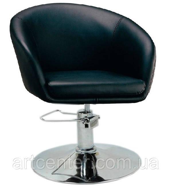 Кресло для парикмахера, кресло парикмахерское черное (МУРАТ Р черный)  на гидравлике