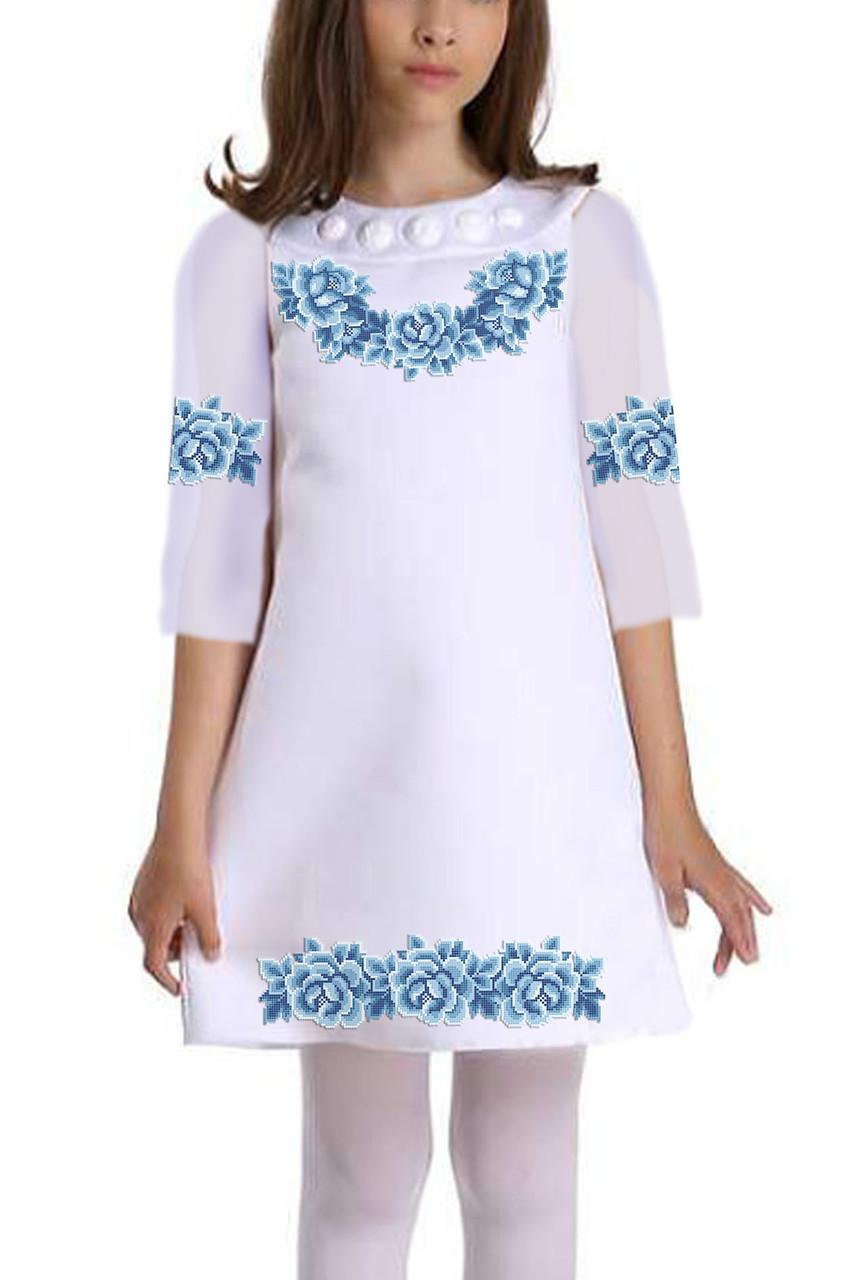 Заготовка дитячого плаття чи сукні для вишивки та вишивання бісером Бисерок «Монохромна фантазія» (ДП-113)