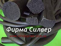 Шнур вакуумный уплотнительный из пористой резины, круглого сечения, диаметр 6мм