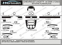 Chevrolet Lacetti Накладки на панель Hatchback (Hartman) под черный цвет