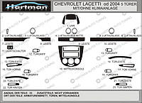 Chevrolet Lacetti Накладки на панель Hatchback (Hartman) цвет темный шпон