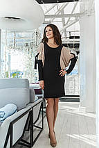 """Короткое трикотажное платье летучая мышь """"LUCY"""" с контрастными вставками (большие размеры), фото 3"""