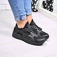 Кроссовки женские черные Nike Huarache