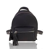 Рюкзак кожаный черный флатар