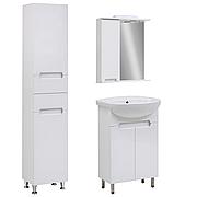 Комплект мебели для ванной комнаты Марко 55 с зеркальным шкафом Юввис