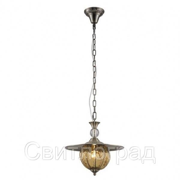 Люстра с Плафонами   Светильник Подвесной Altalusse INL-6080P-1 Antique Brass & Walnut