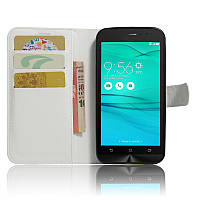 Чехол для ASUS ZenFone Go ZB500KL / ZB500KG / x00bd книжка кожа PU белый