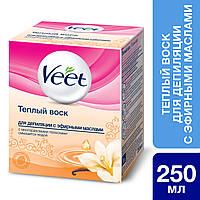 Тёплый воск для депиляции Veet с эфирными маслами 250 ml