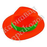 Шляпа Мужская пластик с лентой (оранжевая)