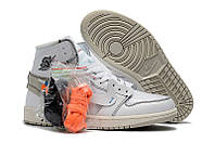 Подростковые баскетбольные кроссовки OFF-WHITE x Air Jordan 1