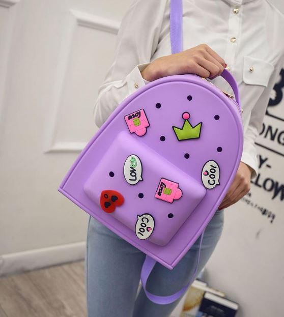 Рюкзак силиконовый Candy с патчами.