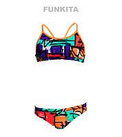 Распродажа! Раздельный купальник для девочек Funkita Street Beat FS02, фото 1