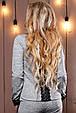 Стильный женский свитшот-кофта 2496 светло-серый, фото 4