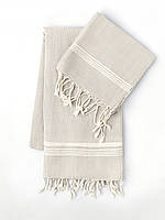 Полотенце Towel Oyster MKrespi 100х180 см Бело-бежевый (OYS2121)