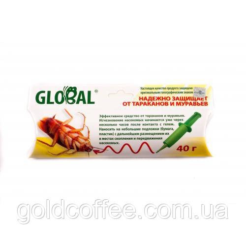 Гель в шприце 40 гр.Global от тараканов и муравьев