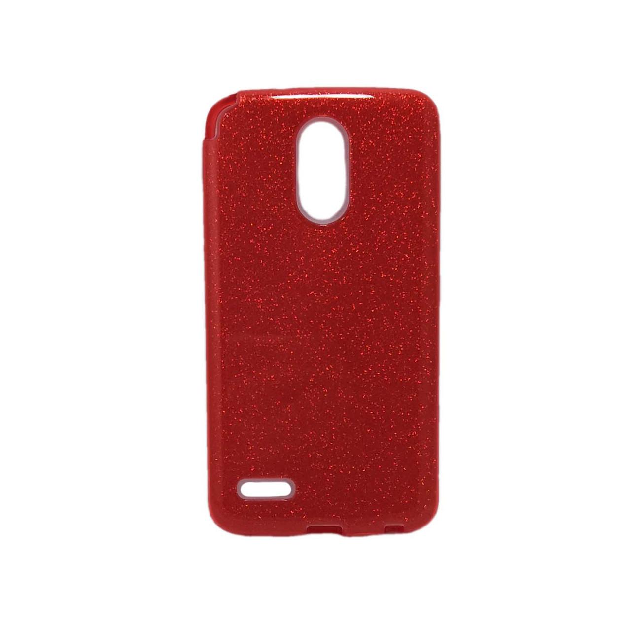 Чохол накладка для LG Stylus 3 M400DY силіконовий 3-в-1, Fashion Case GLITTER, Червоний