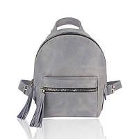 Рюкзак кожаный серый орландо, фото 1