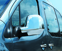 Peugeot Partner Tepee 2012+ Накладки на зеркала хромированный пластик