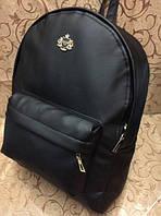 Стильный черный рюкзак эко кожа