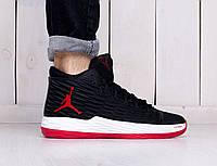 Мужские кроссовки стильные Nike Jordan Melo 13 Black Red (найк эир джордан 2da5443515a0d