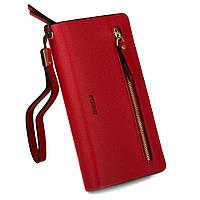 Кошелек - клатч женский Lovely с ремешком, красный (PL030 red)