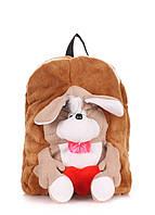 Детский рюкзак POOLPARTY с собачкой, сумка собака для малыша (коричневый)