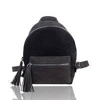 Рюкзак кожаный черный нубук