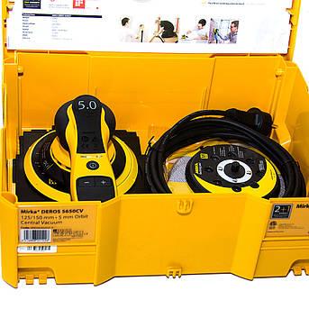 Шлифовальная машинка электрическая 350 Вт, 4000-10000 об/мин, 125-250 мм MIRKA DEROS 5650CV MID5650202CA, фото 2