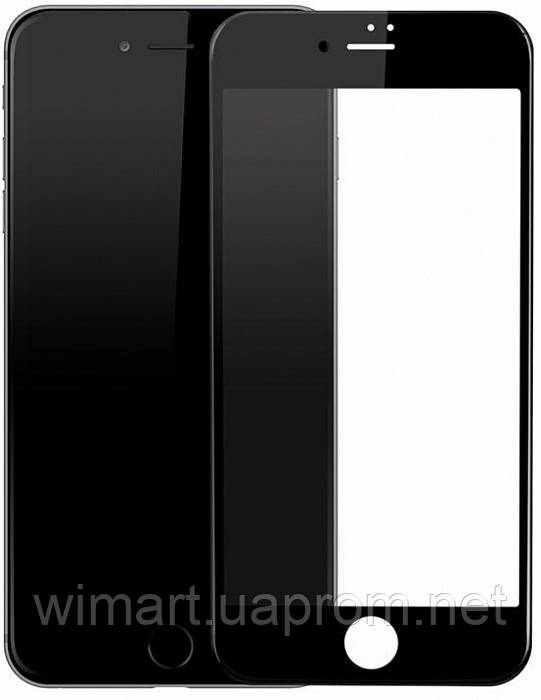 Защитное противоударное стекло Baseus Silk Screen Tempered Glass (SGAPIPH8N-ASL01) IPhone 8/7 Black