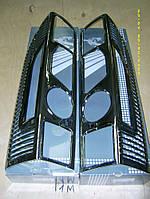 Fiat Ducato Накладки на стопы с изгибом (хром, пластик)