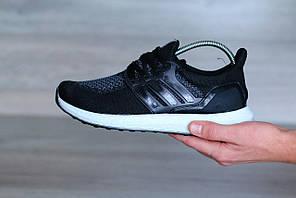 Мужские кроссовки Adidas Ultra Boost, цвет - черный