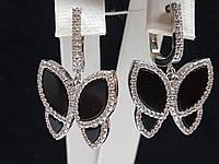 Серебряные серьги с фианитами. Артикул 54444, фото 1