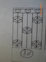 Решетка на окно сварная с элементами ковки - 30