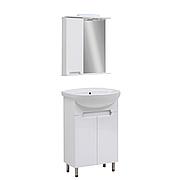 Мини-комплект мебели для ванной комнаты Марко 55 с зеркальным шкафом Юввис