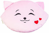 Мягкая игрушка Тигрес Подушка Кошка влюбленный смайл (ПД-0202)