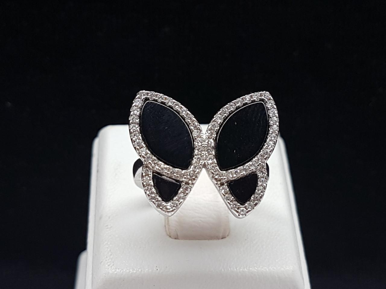 Серебряное кольцо с фианитами. Артикул 54457 16,5