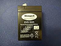 Аккумулятор для фонарей и весов WIMPEX 6V 6Ah 750 GM