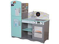 Деревянная кухня для детей EcoToys Blue TK024