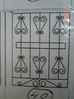 Решетка на окно сварная с элементами ковки - 40