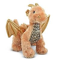 Мягкая игрушка Melissa & Doug Блестящий Дракоша 24 см (MD7571)
