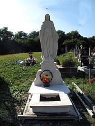 Надгробный памятник с известняка скульптура Божьей матери