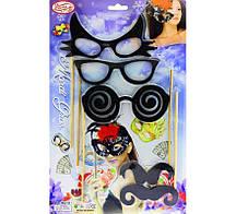 Фотобутафория набор очки - усы, 5 предметов