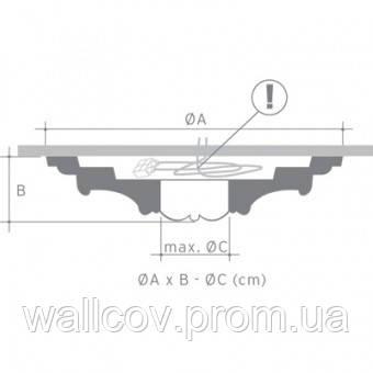 R35 потолочная розетка Orac DECOR, фото 2