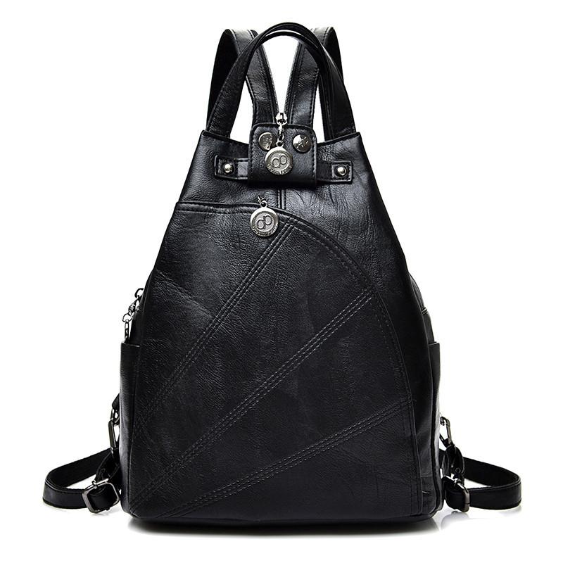 1c7f2ae355f0 Рюкзак сумка женский городской треугольной формы (черный) -  Интернет-магазин «VINGO»