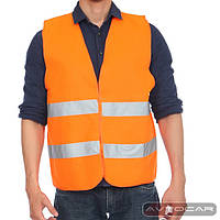 Жилет автомобильный светоотражающий Beltex размер XL, цвет: оранжевый
