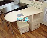 """Манікюрний стіл """"стандарт"""" з вбудованою витяжкою+пуф для педикюру, фото 2"""